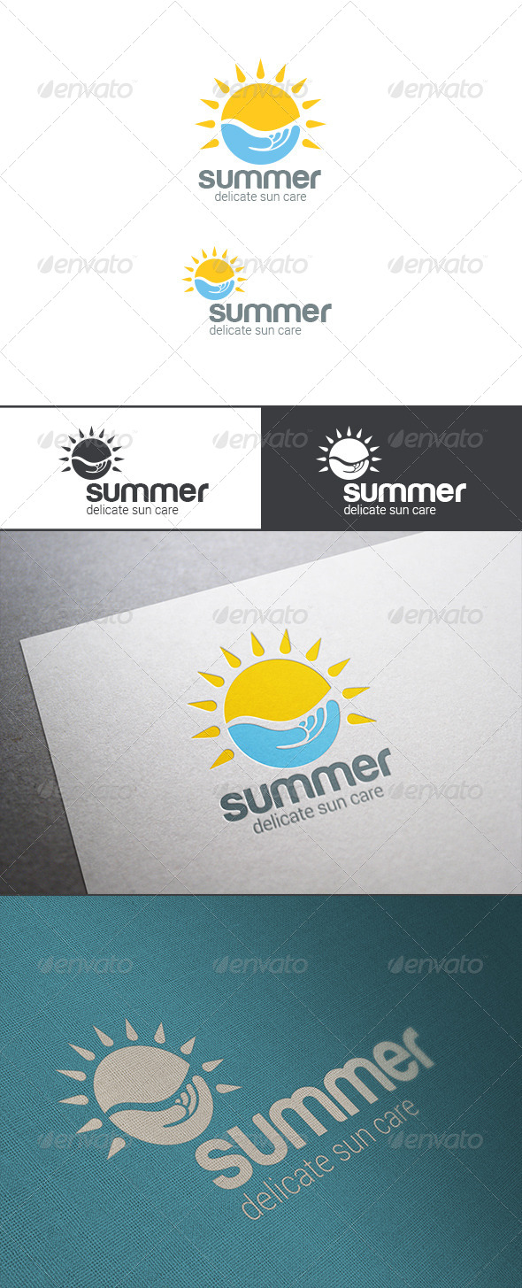 GraphicRiver Summer Sun Care Alternative Energy Logo 8179970