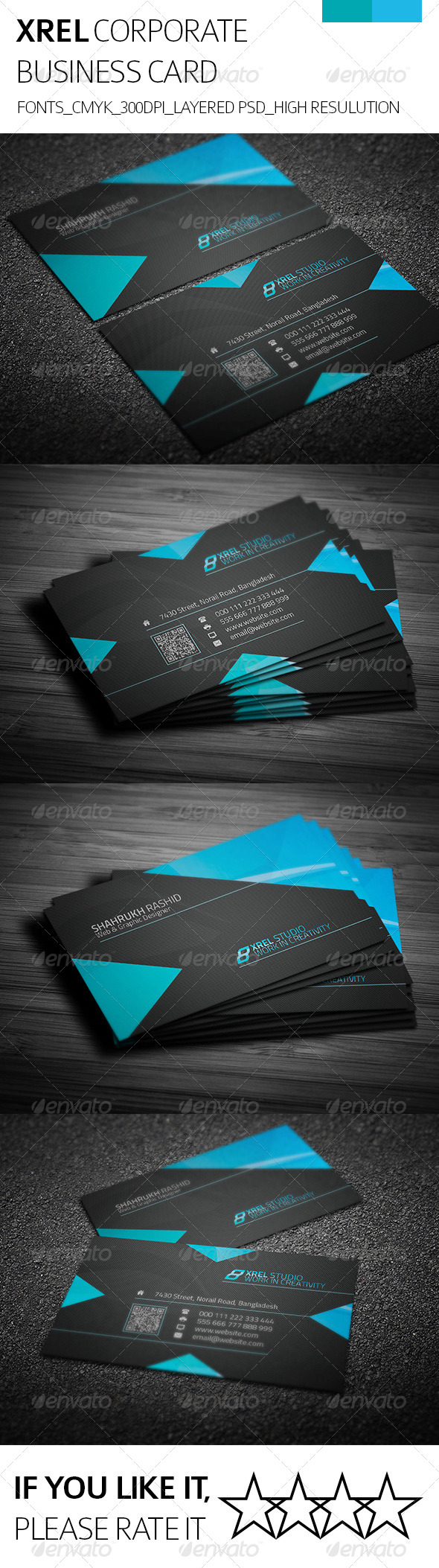 Xrel & Corporate Business Card