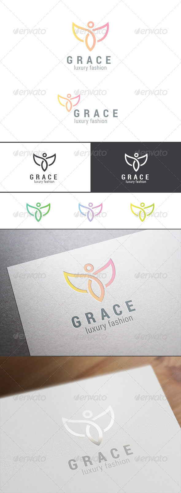 GraphicRiver Graceful Flying Character Abstract Logo 8179987