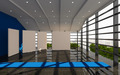 Blue office interior modern - PhotoDune Item for Sale