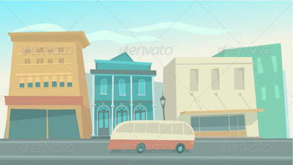 GraphicRiver Big City with Cars 8180147