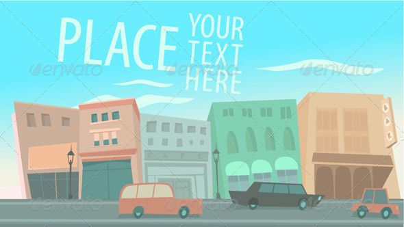 GraphicRiver Big City with Cars 8180149