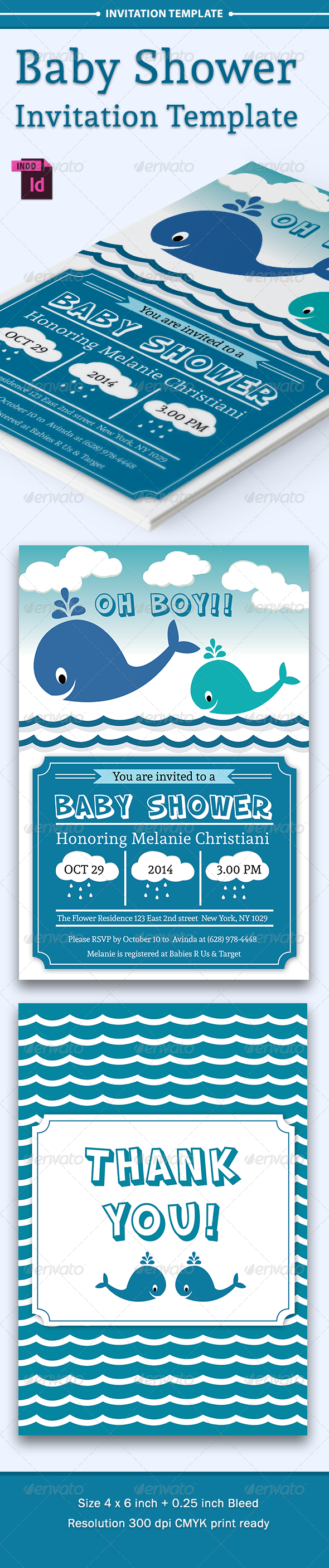 GraphicRiver Baby Shower Template Vol 6 8174855