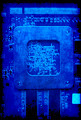 Electronic circuit board blue grunge background - PhotoDune Item for Sale