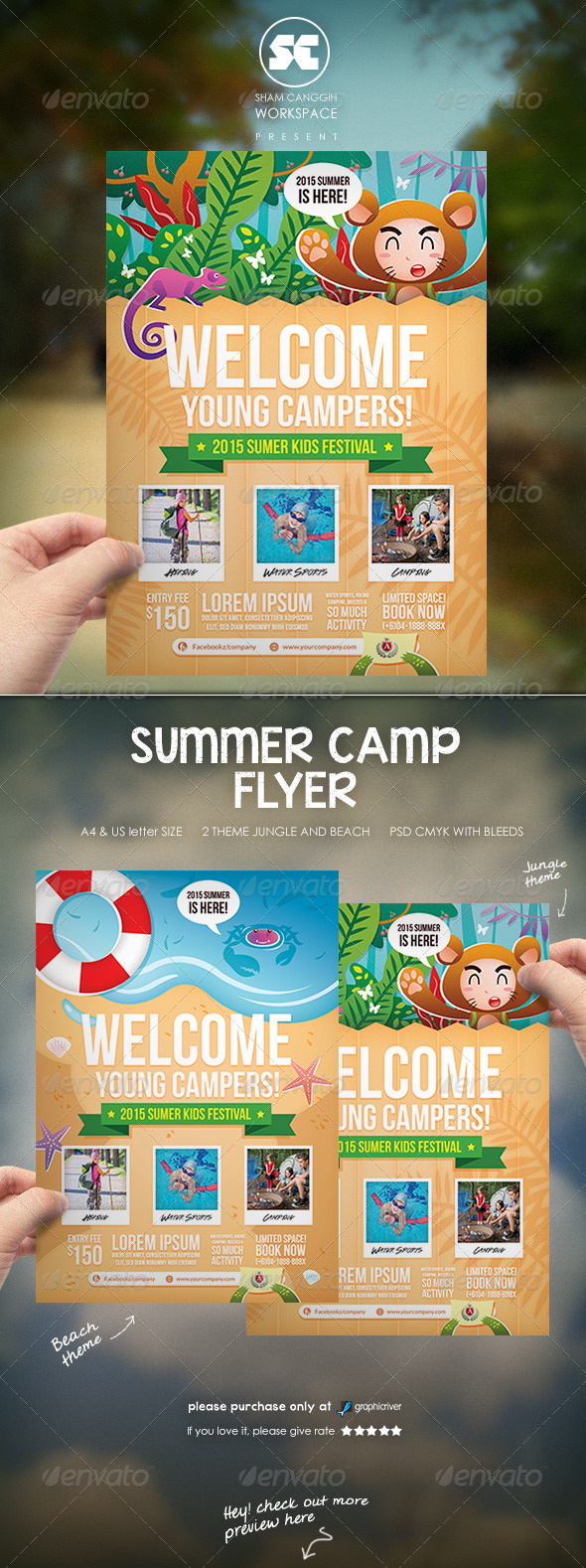 GraphicRiver Kids Summer Camp Flyer 8180600