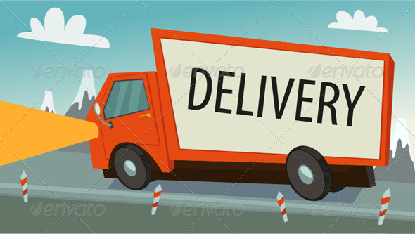 GraphicRiver Delivery Truck lorry Shipping Concept 8180637