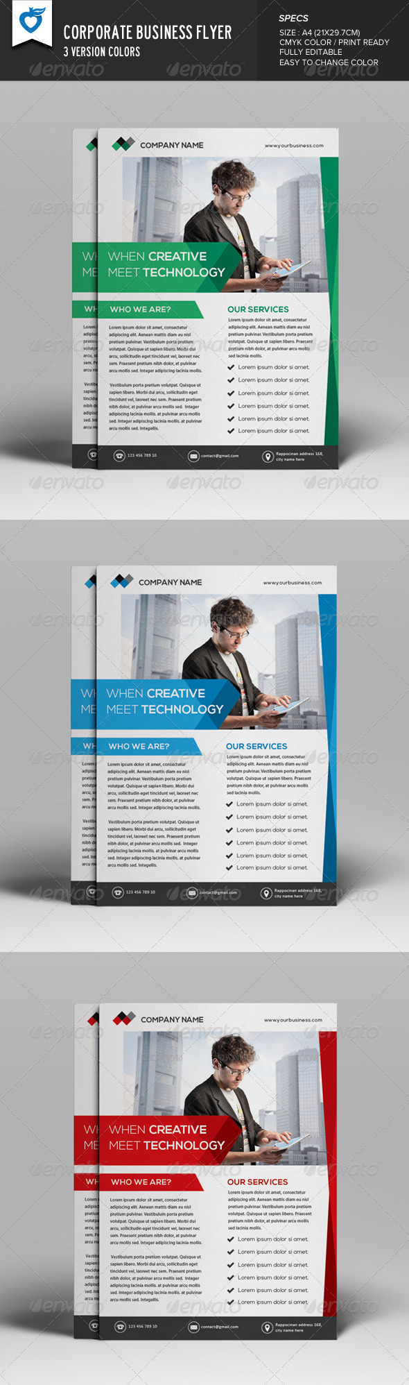 GraphicRiver Corporate Business Flyer v17 8180663