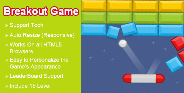 CodeCanyon Breakout HTML5 Game 8180774