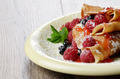 Crepes raspberry blueberries mint - PhotoDune Item for Sale