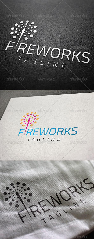 GraphicRiver Fireworks Logo 8180809