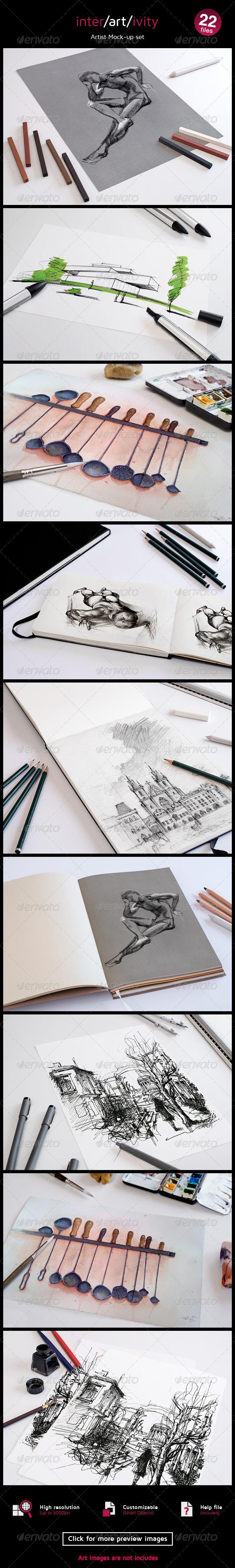 GraphicRiver Graphic Artist Mock-up Set 8180814