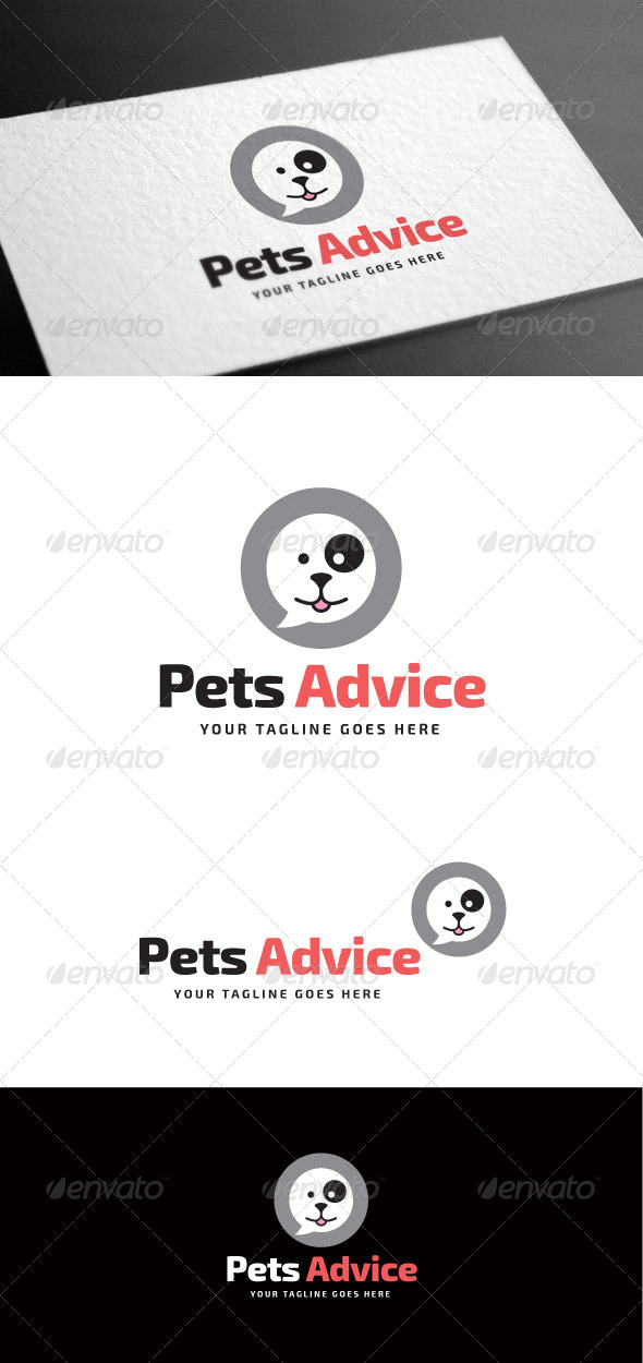 GraphicRiver Pets Advice Logo Template 8180818