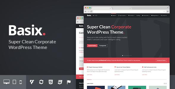 ThemeForest Basix Corporate WordPress Theme 8041961