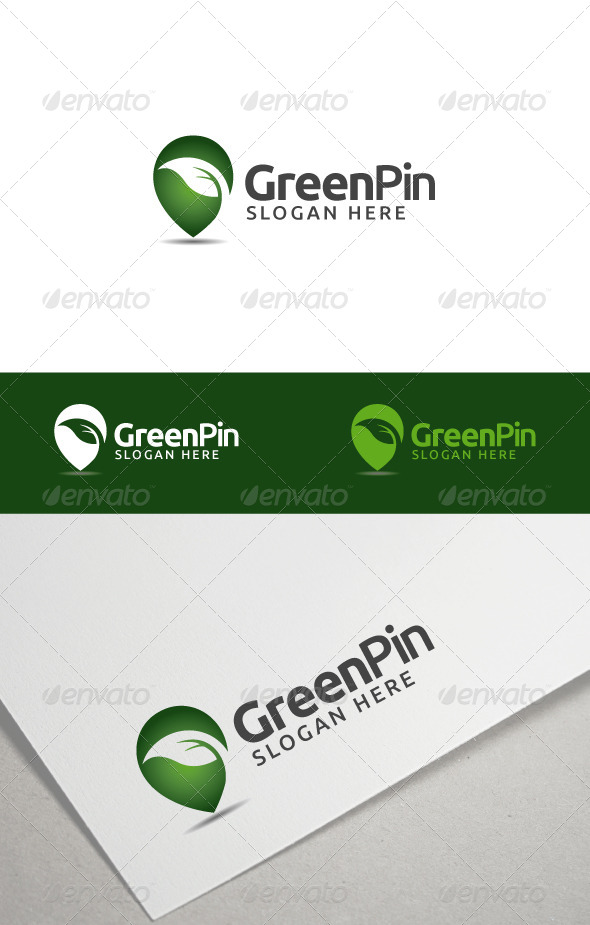 GraphicRiver Green Pin 8181168