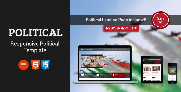 Political - Bootstrap Html5/Css3 Political Page - Political Nonprofit