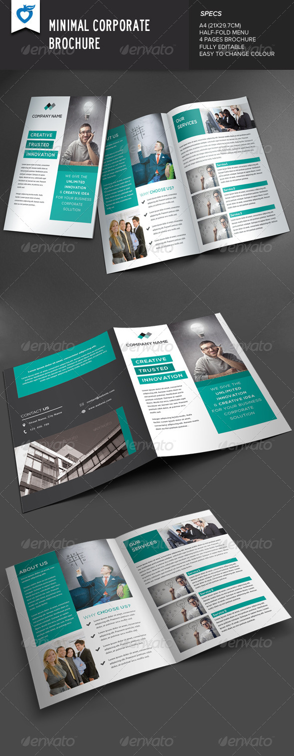 GraphicRiver Minimal Corporate Brochure 8181495