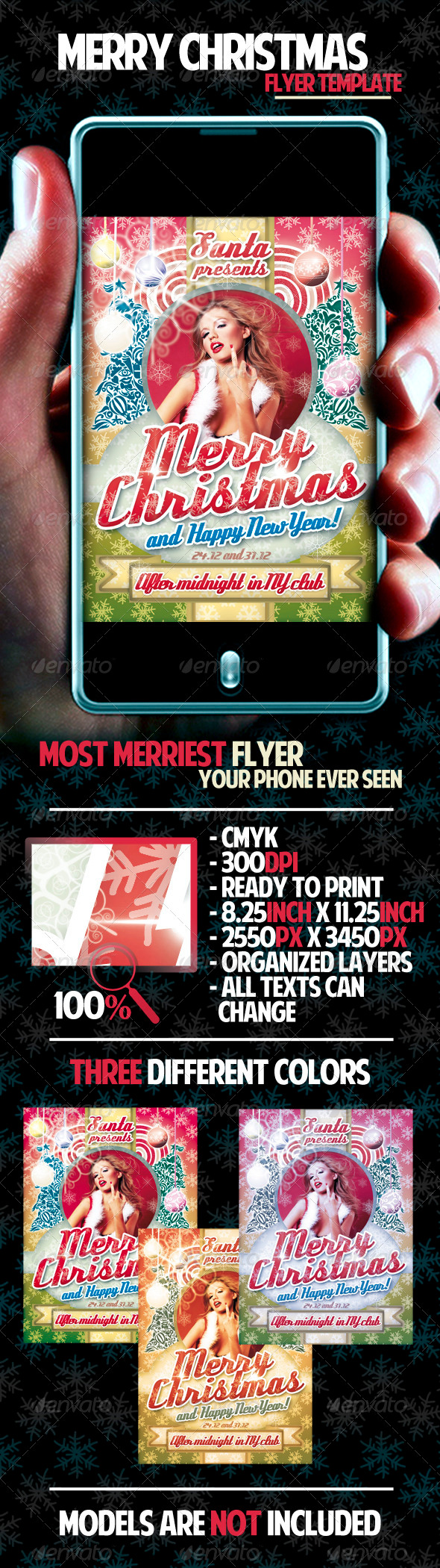 GraphicRiver Merry Christmas Flyer Template 837494