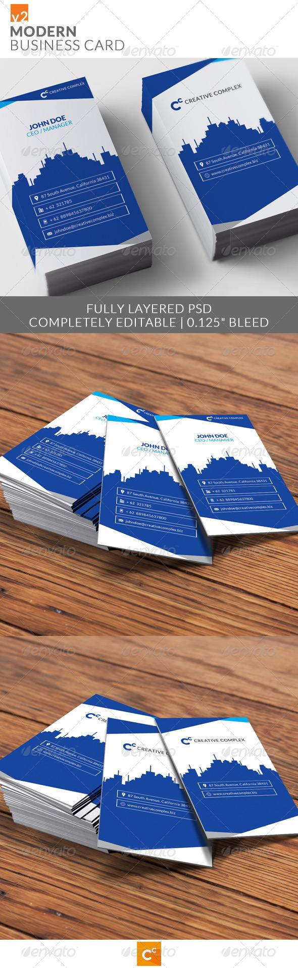 GraphicRiver Modern Business Card v2 8181576