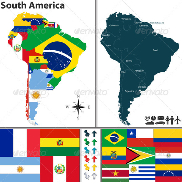 GraphicRiver Map of South America 8181589