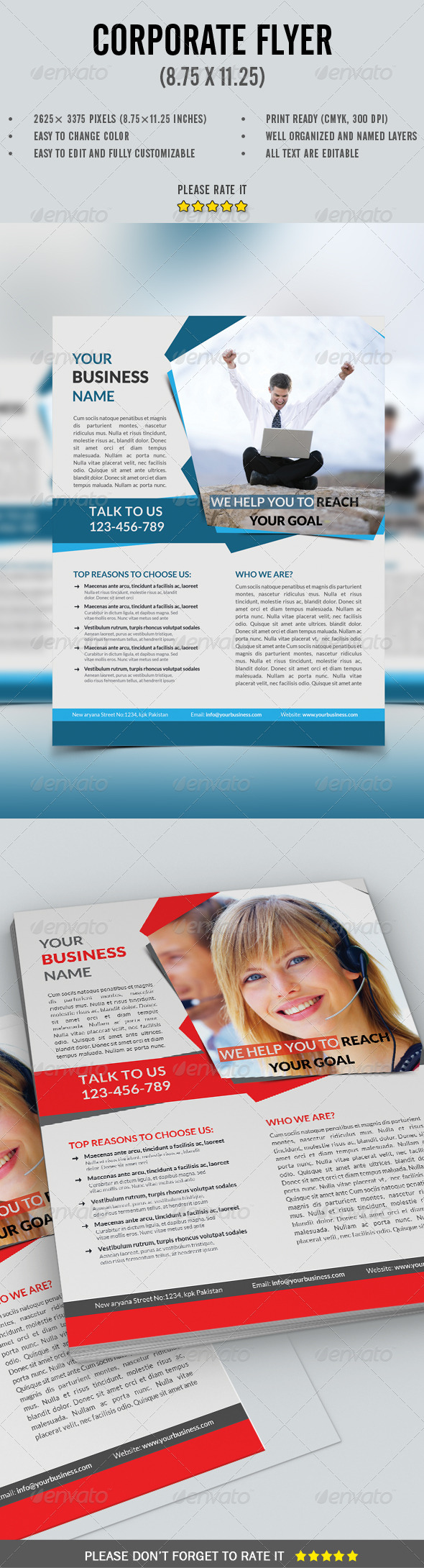 GraphicRiver Corporate Flyer 8178795