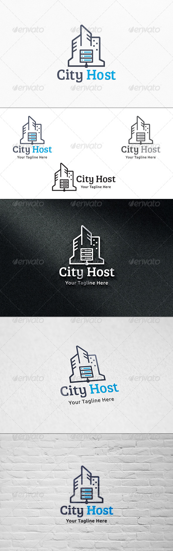 GraphicRiver City Host Logo Template 8181771