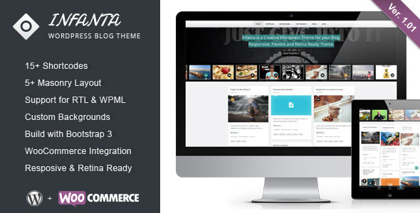 Infanta - Responsive Creative Wordpress Theme - Personal Blog / Magazine