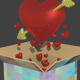 High Poly: Heart with Arrow
