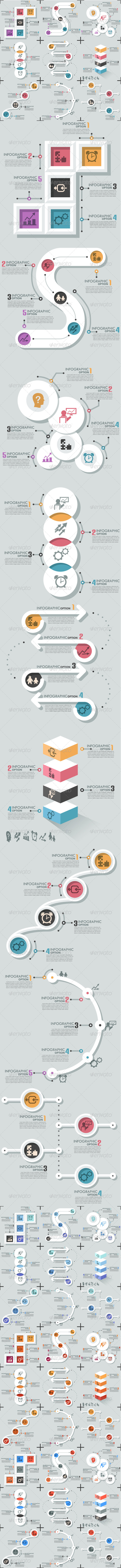 GraphicRiver Set Of 9 Flat Infographic Options Templates 8182281