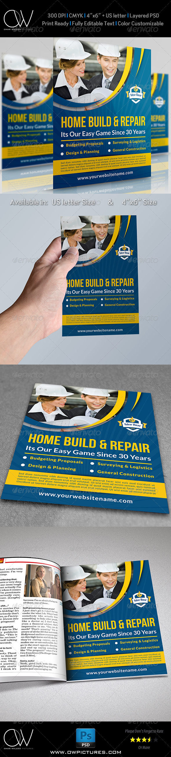GraphicRiver Construction Business Flyer Vol.3 8182508