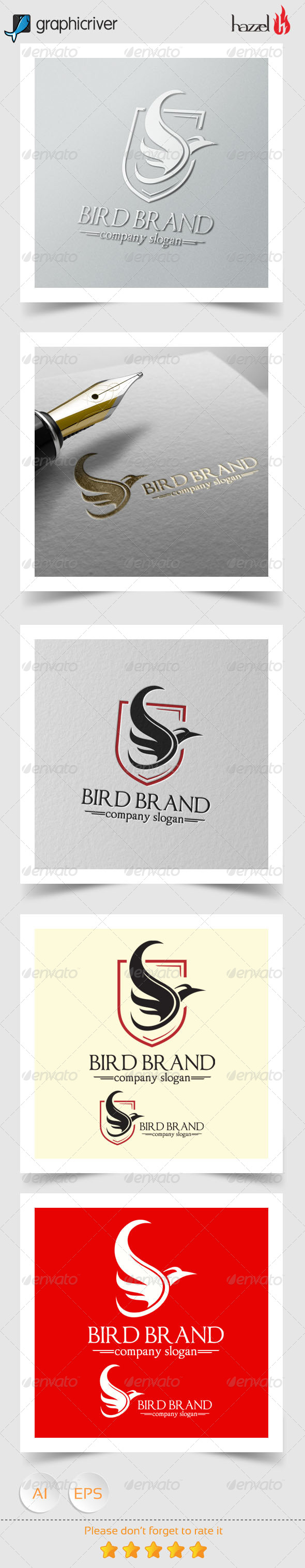 GraphicRiver Bird Brand Logo 8182590