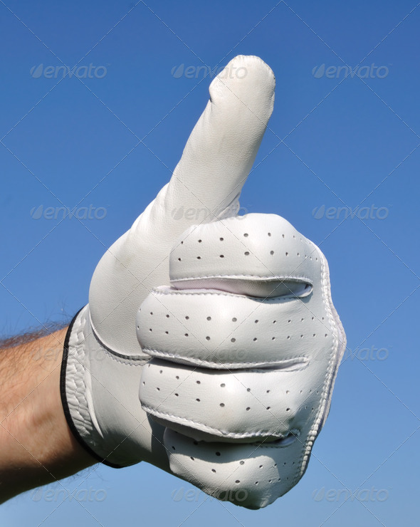 Golfer Giving Thumbs Up Sign