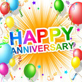 Happy Anniversary Means Greeting Congratulating And Party