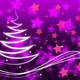 Purple Stars Background Means Night Sky And Zigzag - PhotoDune Item for Sale