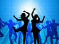 Women Dancing Represents Disco Music And Adults