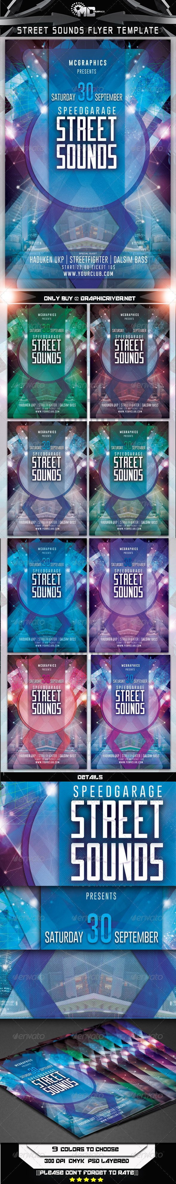 GraphicRiver Street Sounds Flyer Template 8178110