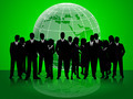 Business People Indicates Corporate Office And Together