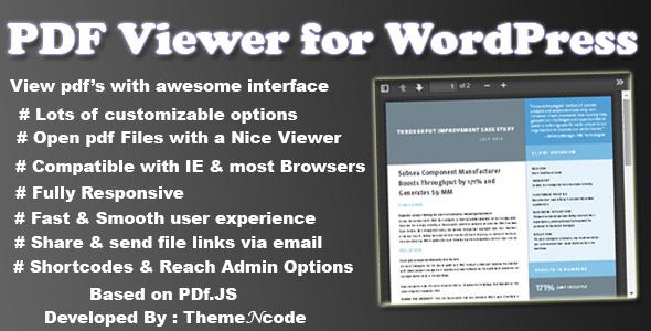 CodeCanyon PDF viewer for WordPress 8182815