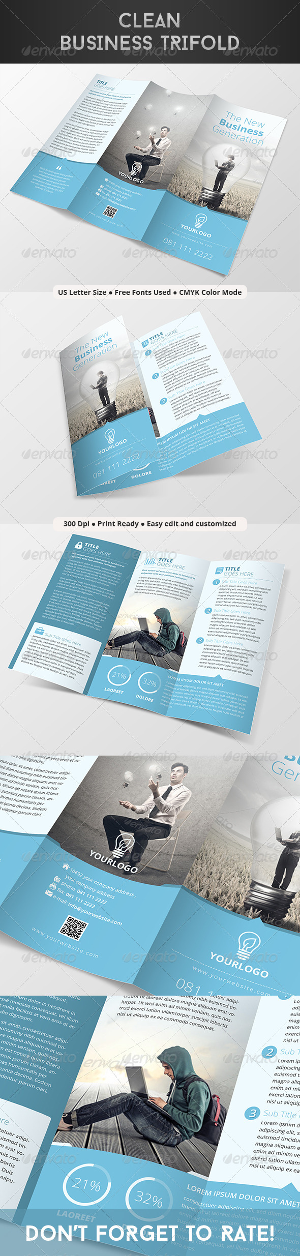 GraphicRiver Clean Business Trifold 8182839