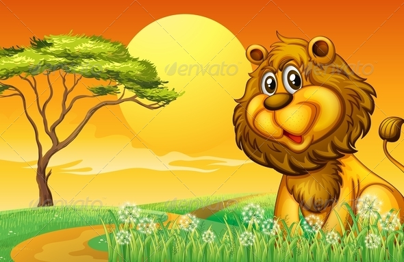 GraphicRiver Lion on the Hill 8182982