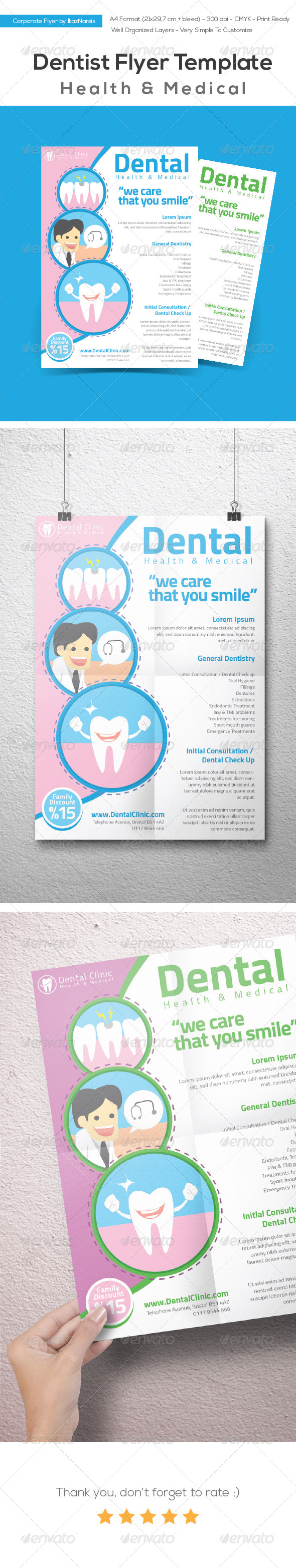 GraphicRiver Dentist Flyer Templates 8178274