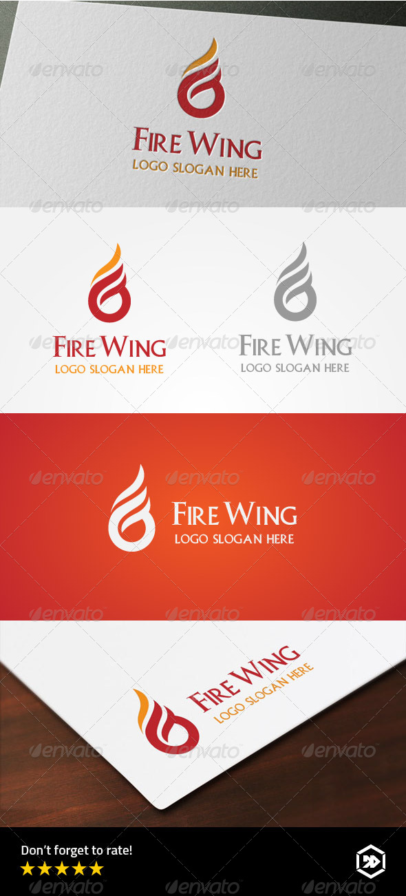 GraphicRiver Fire Wing Letter G Logo 8183105