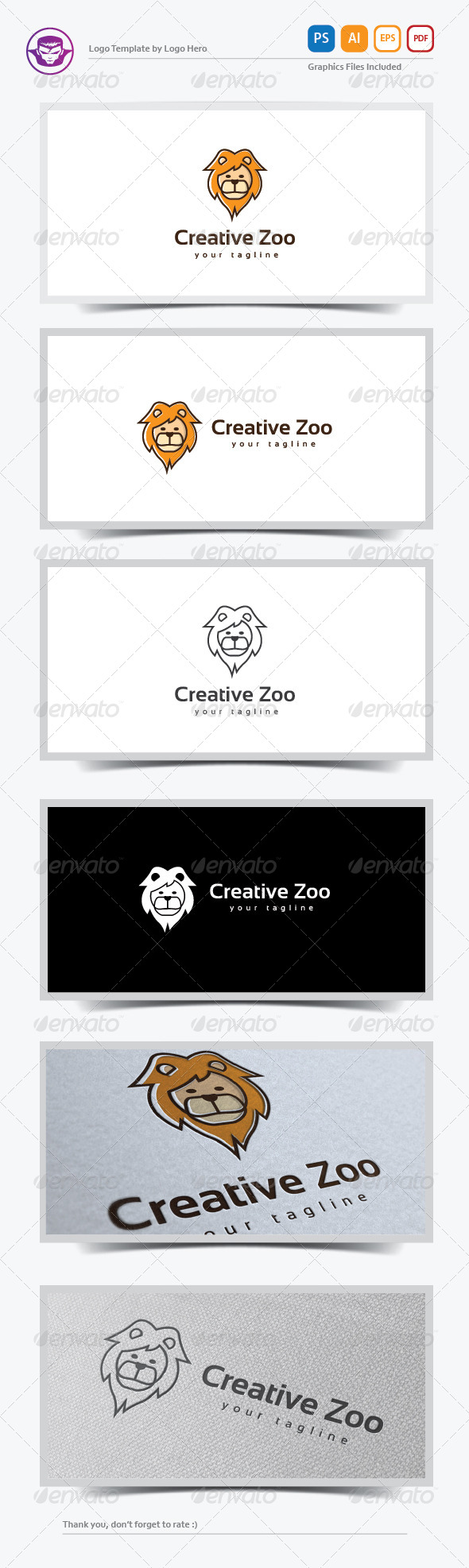 GraphicRiver Creative Zoo Logo Template 8183197