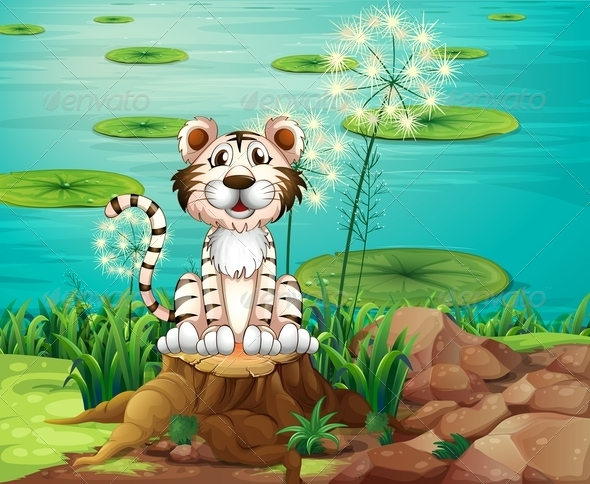 GraphicRiver Tiger by the Riverbank 8183279