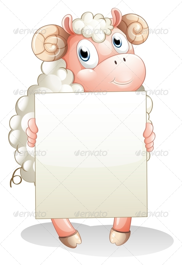 GraphicRiver Ram Holding an Empty Sign 8183291