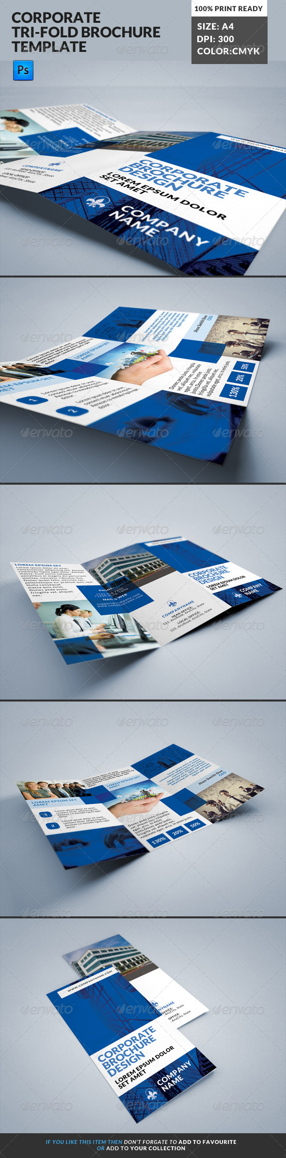 GraphicRiver Corporate Tri-Fold Brochures Template 16 8183299