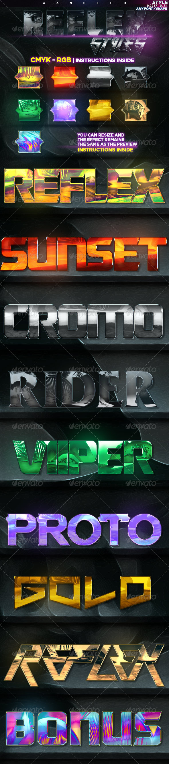 GraphicRiver Reflex Styles 8183317