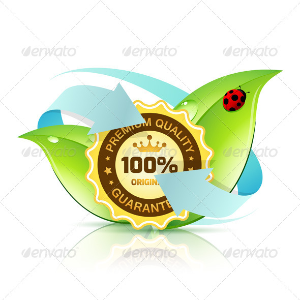 GraphicRiver Premium Quality Label with Leaves 8183325