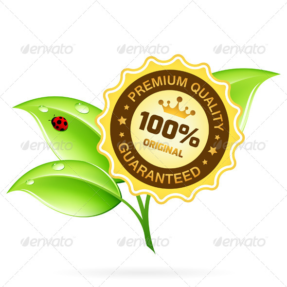 GraphicRiver Premium Quality Label with Leaves 8183331