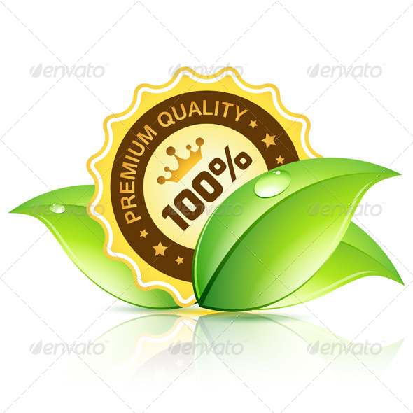 GraphicRiver Premium Quality Label with Leaves 8183339