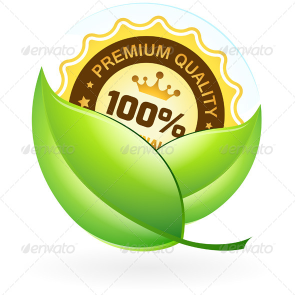 GraphicRiver Premium Quality Label with Leaves 8183343